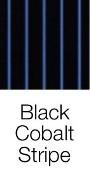 Black Cobalt Stripe dog bed fabric