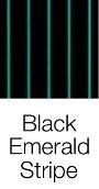 Black Emerald Stripe dog bed fabric
