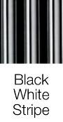 Black White Stripe dog bed fabric